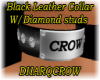 BLACK LEATHER CROW DIAMD