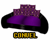Purple trio couch