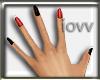 Iv-Red-BlaCk Nails