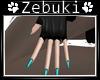 +Z+ Punk Teal Gloves ~