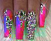 Pink Nails Rings