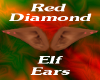 Red Diamond Elf Ears