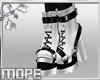 Harness Boots-White
