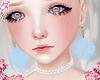 d. fur earrings blue