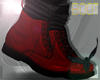 LATEX BOOT . red