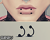 P. Lip Dual Piercing B.