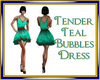 Tender Teal bubbles dres