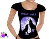 Rebel wolf girls shirt
