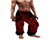 Red Tribal Pants