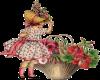 Girl and Flower Basket