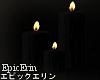 Black Melting Candles