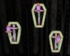 Der. Coffin Wall Candles