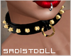 Spikes Ring Choker Gold