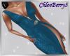 Vivian Slit Dress Ocean