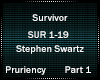 Stephen S - Survivor 1