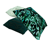Green Poseless Pillows