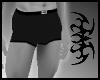 ASM black stripe shorts