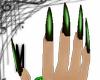 Long green nails
