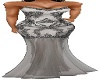 SILVER BEADED SHEER GOWN