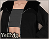 [Y] Layerable black coat