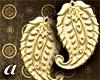 {a} PaisleyGold Earrings