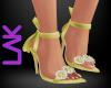 Tatiana heels yellow