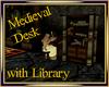 Medieval Desk w/ Library