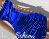ṩSatin Dress Blue M