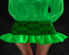 Lime Lace Ruffle Skirt