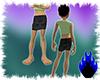 [RN] Black Satin Skirt
