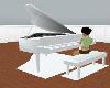 animated white piano