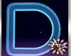 ! 3D Neon Blue Letter