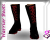 Warrior Boots Red Black