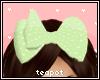 T  Kids Green Bow
