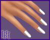 HH White Sparkle Nails