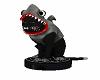 Shark Cat on a roomba