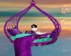 purple cuddle kiss swing