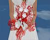 wedding boquet red/white