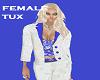 FEMALE TUX WHITE/BLUE