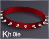K red devil spike collar