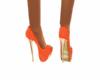 Polkadot Orange Shoe