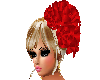 RED ROSES IN HAIR BLOND