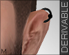 R_ Male Left Earring