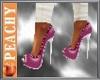P~ heels pink & white