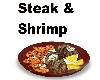 Steak and Shrimp Plate
