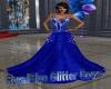 RoyalBlue Glitter Gown