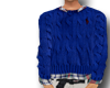 Polo Cable Knit Sweater.