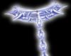 Blue spike collar chain
