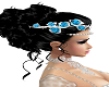 head flowers bleue