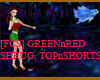 [FCS] Green Red TopShort